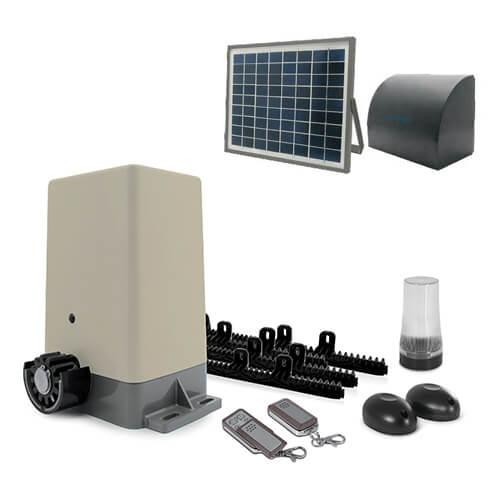 Motorisation pour portail coulissant Zenia - Avidsen + Kit solaire