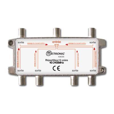 Répartiteur VHF / UHF / SAT (6 sorties)