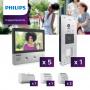 Interphone vidéo Philips pour 5 appartements