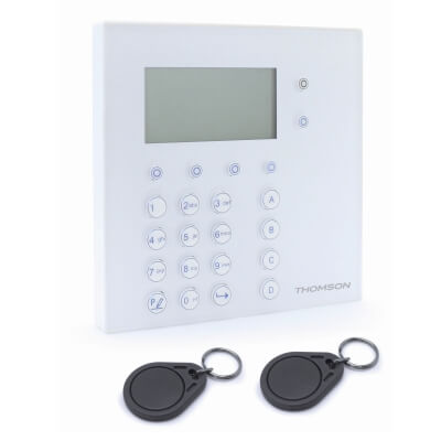 Clavier et lecteur de badge sans fil pour système d'alarme