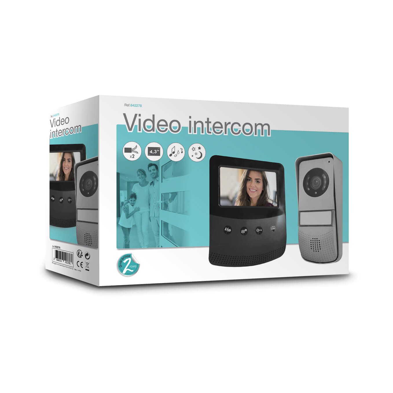 Interphone vid/éo Filaire avec Badges Vsiodoor R 7+ RFID Interphone /écran Tactile PVF0042 SCS Sentinel Visiophone Filaire Vid/éophone Maison Vid/éophone Porte