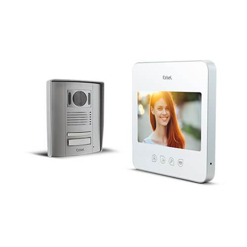 Visiophone couleur mains libres sur 2 fils QUATTRO² look blanc - 720277G - Extel