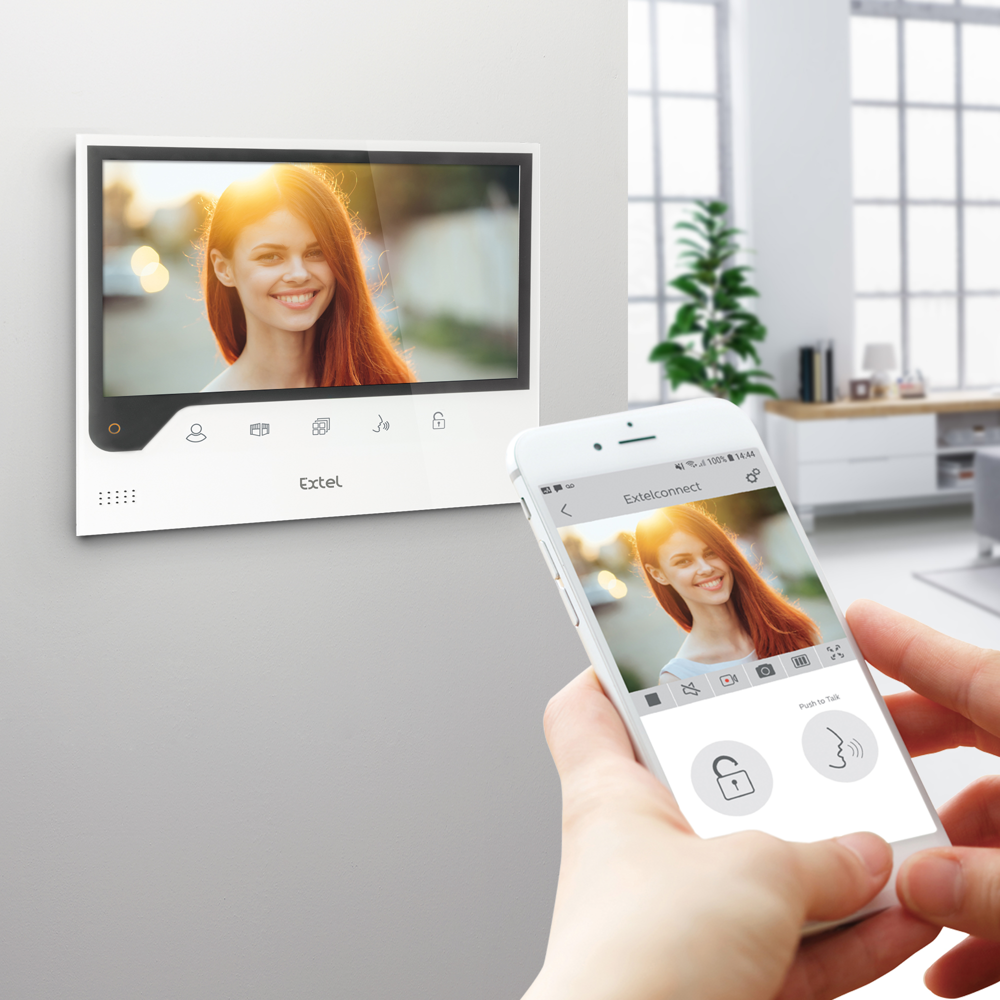Visiophone Filaire Connecté à Votre Smartphone Extel Connect Visiophonie Maisonic