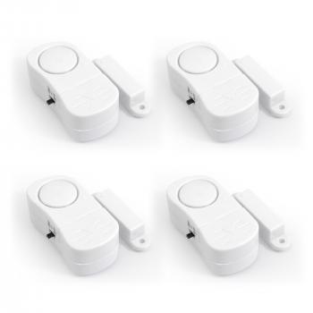 Pack de 4 mini alarmes pour porte/fenêtre