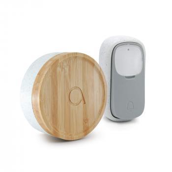 Carillon écologique bouton sans fil sans pile Bamboo