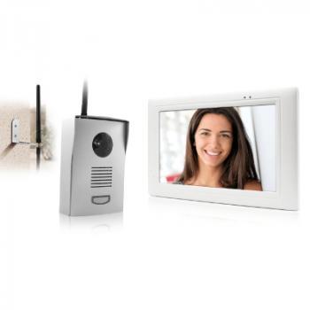 Visiophone sans fil (300m portée) - IZZY-768W avec platine de rue sur pile ou 220V
