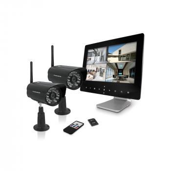 """Enregistreur vidéo sans fil et connecté + 2 caméras - Ecran 9"""" (env 23cm)"""