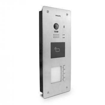 Platine de rue 4 appartements (boutons) pour les interphones Vidéo Philips WelcomeHive Pro