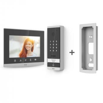 Visiophone filaire Extel Code avec digicode intégré (encastrable ou en saillie)