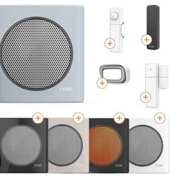 Carillon sans fil avec portée de 200m et 6 sonneries au choix diBi Flash Soft