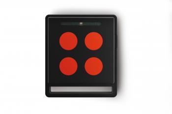 Télécommande radio noire 5 touches compatible motorisations portail et porte de garage NiceHome