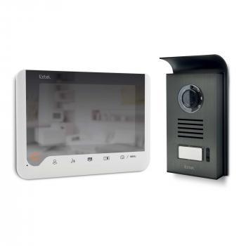 Visiophone ICE  2 fils 7 pouces à mémoire de passage et à effet miroir - Blanc