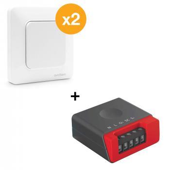 Kit interrupteur pour va et vient sans fil sans pile EnOcean