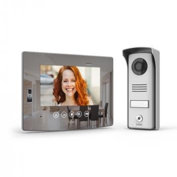 Visiophone filaire Extel Glass avec son écran effet miroir