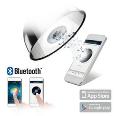 Ampoule LED avec enceinte Bluetooth®