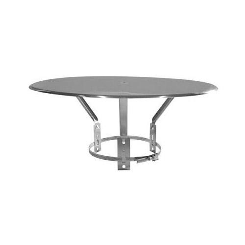 Chapeau plat esthétique (125 à 200mm) inox - 105037104 - Isotip Joncoux