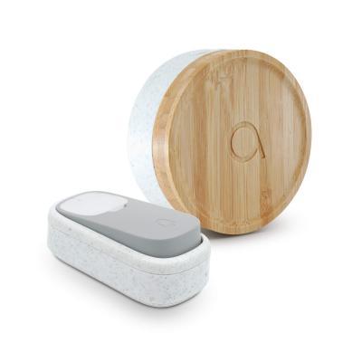Sonnette écologique avec bouton sans fil sans pile carillon - Bamboo - Avidsen