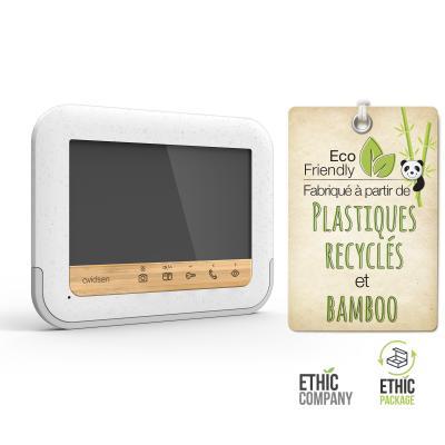 Plastique recyclés et bamboo pour le visiophone et la platine de rue