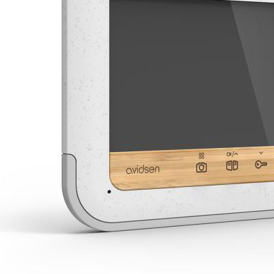Détail du bamboo sur l'écran du visio