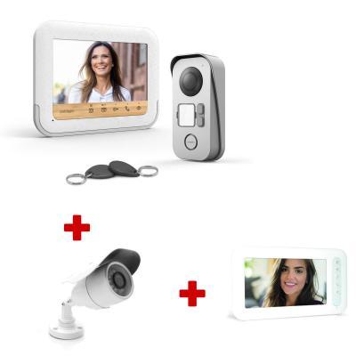Visiophone Bambooview + caméra de surveillance + écran supplémentaire