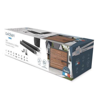 Vue de 3/4 du Packaging / Carton de la motorisation à vérin V250