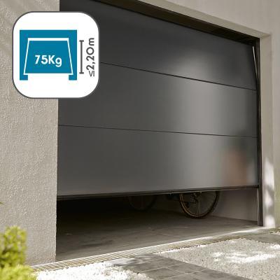 Porte de garage qui s'ouvre avec l'Avidsen Stromma 600