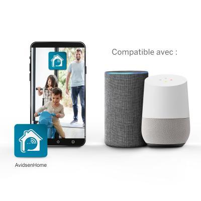 Caméra extérieure wifi Avidsen Home fonctionne avec Google Home et Alexa