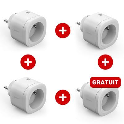 Lot de 4 prises connectées HomePlug gamme Avidsen Home : 3 + 1 gratuite