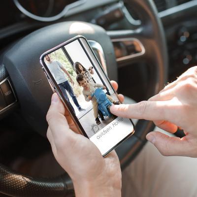 Utilisation de l'application Avidsen Home depuis l'extérieur de la maison en voiture