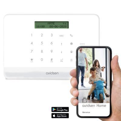 Ecran de l'alarme connecté avec l'application smartphone Avidsen Home