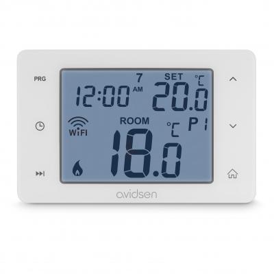 Thermostat connecté pour chaudière vue de face