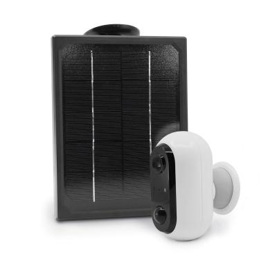 Vue de côét de la caméra avec panneau solaire Avidsen Home Cam Outdoor