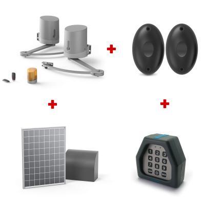 Kit motorisation Billy premium : Motorisation + photocellules + digicode + kit solaire