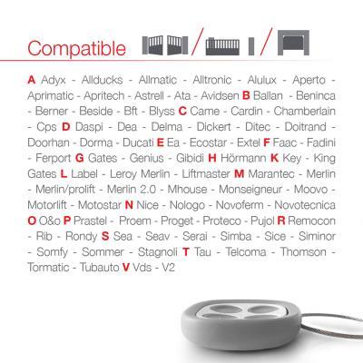 Marques compatibles avec la télécommande Tomson