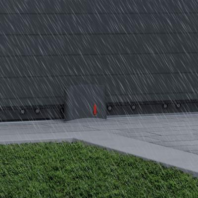 Motorisation Swip 200 sous la pluie devant un portail coulissant