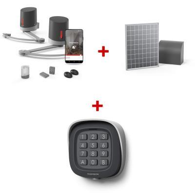 KIT 510062 Premium : Motorisation connectée + digicode + panneau solaire