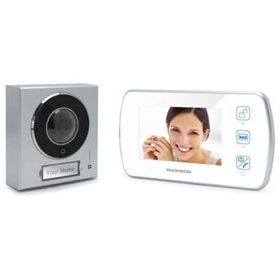 """Interphone vidéo mains libres Écran 4.3"""" - 512160 - Thomson"""