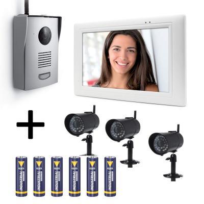 Interphone vidéo sans fil avec platine de rue sur pile Thomson