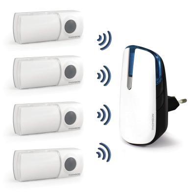 4 boutons d'appel connectés à la sonnette Thomson à brancher