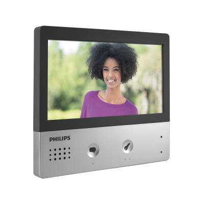 Ecran allumé de l'interphone Philips Pro Wlecome Hive