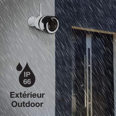 Caméra IP sous la pluie