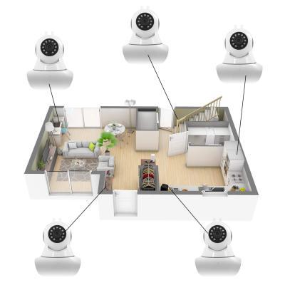 Plusieurs caméra IP connectées dans une maison