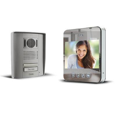 Visiophone couleur mains libres sur 2 fils QUATTRO² effet miroir - 720277G - Extel