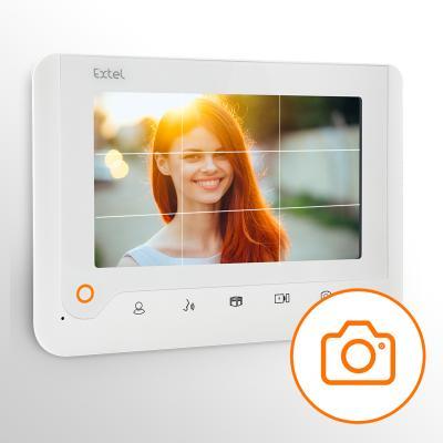 Le visiophone Extel Nova White permet de prendre des photos