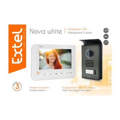 Carton du visiophone Extel Nova White