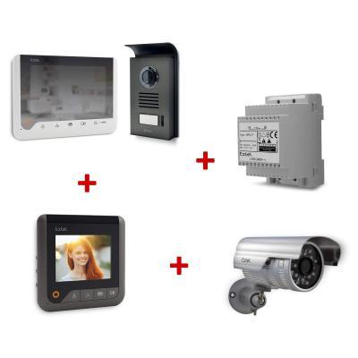 Kit 720306PREMIUM : Visiophone Extel Ice + 1 Caméra + 1 Rail Din + 1 écran supplémentaire (2 en tout)