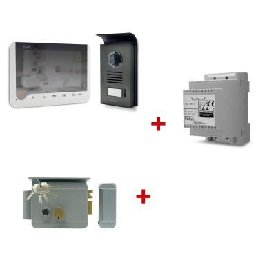 Kit 720306SERRURE : Visiophone Extel Ice + 1 Rail Din + 1 serrure