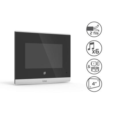 Fonctions de l'écran du visiophone Extal Compact