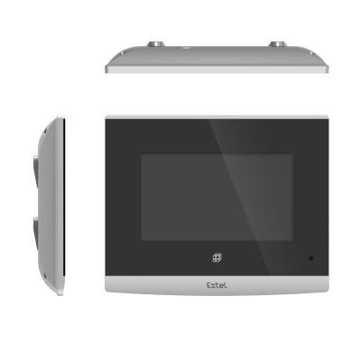 Vue de dessus et de côté du visiophone Extel Compact