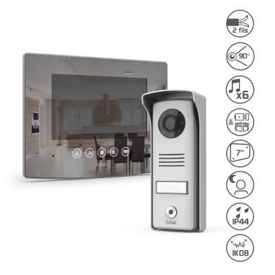 Kit visiophone Extel glass : écran + platine de rue + fonctionnalités